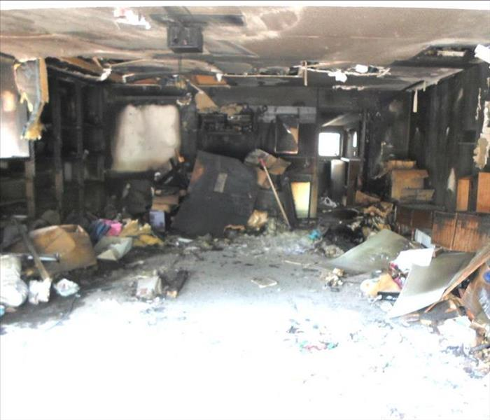 Fire Damage – Albany Garage Before