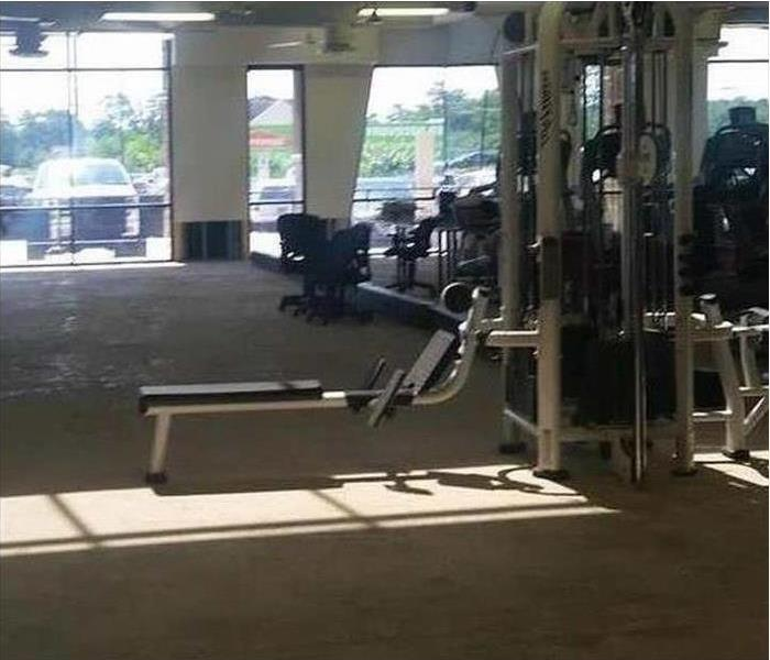Flooding in a Workout Center After